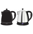 kettle 3d model and black outline icon vector image vector image
