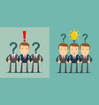 leadership concept businesspeople with question vector image vector image