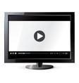 Liquid crystal display Web video player vector image vector image
