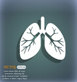 Lungs icon On the blue-green abstract background vector image