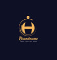luxury monogram letter h logotype premium brand vector image vector image