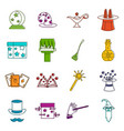 magic icons doodle set vector image vector image