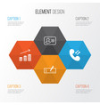 management icons set collection of payment call vector image vector image