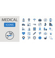 medical set glyph related icon vector image