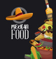 mexican food brochure vector image