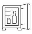 mini bar thin line icon hotel fridge vector image vector image