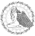Naked girl angel with wings vector image vector image