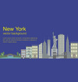 new york flat banner vector image