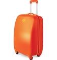 orange travelling baggage suitcase vector image vector image
