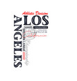 os angeles sport typography design vector image vector image