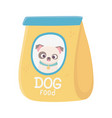 package food dog domestic animal pets vector image vector image