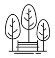 park bench icon outline style