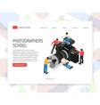 photographer concept isometric vector image vector image