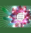 pink flower with sparks vector image