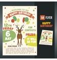 postcard birthday vector image vector image
