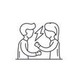quarrel line icon concept quarrel linear vector image