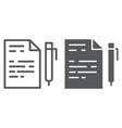 quiz line and glyph icon school and education vector image vector image