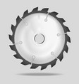 realistic circular saw blade vector image