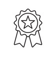 reward grade award ribbon star icon best choice vector image vector image