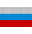 Russia flag embroidery design pattern vector image vector image