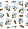 Seamless pattern with koalas vector image vector image