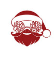 sign of santa claus vector image vector image