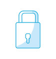 silhouette padlock to have security special vector image vector image