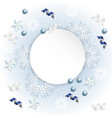 snowflake ribbon background vector image vector image