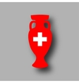 sport competition cup Switzerland vector image vector image