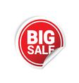 sticker big sale color vector image vector image