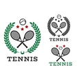 Tennis sporting emblems and symbols vector image vector image