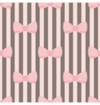 Tile decoration wallpaper with pink pastel bows vector image vector image