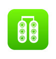 traffic light icon green vector image