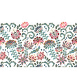 vintage flowers seamless border in asian style vector image vector image