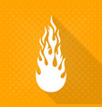 white fire flame icon vector image vector image