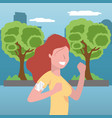 woman running portrait vector image vector image