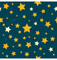 Yellow Stars Teal Sky Pattern vector image vector image