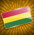 Flag of Bolivia with old texture vector image