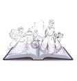 Tale of Cinderella Open book fantasy tale Fairy vector image