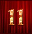 11 years anniversary celebration vector image