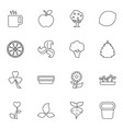 16 leaf icons vector image vector image