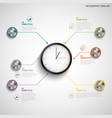 abstract info graphic with color design clock vector image vector image