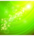 Abstract Light Green Wave Background vector image vector image