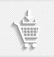 add to shopping cart sign white icon with vector image vector image