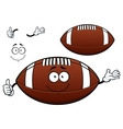 American football or rugby ball cartoon character vector image