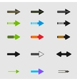 Arrow sign icon set design eps10 vector image