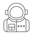 astronaut thin line icon spaceman and astronomy vector image vector image