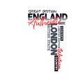 athletic london england typography for t-shirt vector image