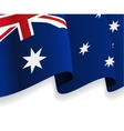 Background with waving Australian Flag vector image