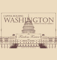 banner with us capitol building in washington dc vector image vector image